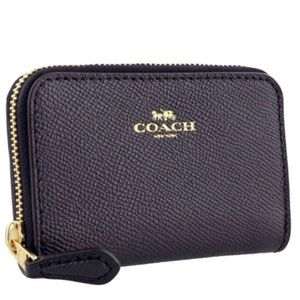 NWT Coach Leather Wallet Coin Purse ID Card Navy
